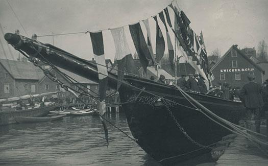 Bluenose in Lunenburg Harbour.
