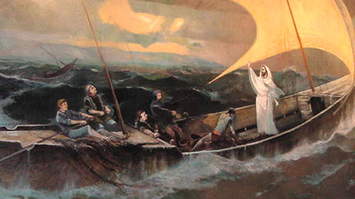 Fishermen Memorial Room Mural
